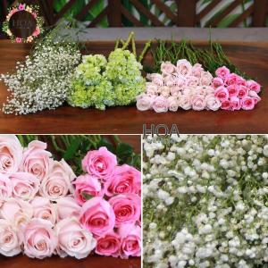38 CÀNH HOA LẺ: hoa hồng, cẩm tú cầu, baby...