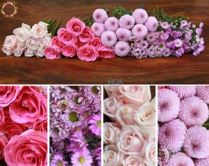 40 CÀNH HOA LẺ: hoa hồng, cúc bingbong...