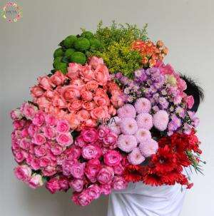 HOA LẺ: 100 cành hoa, lá tự chọn